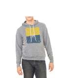 Maize and Blue Hoodie - Grey