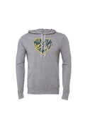 Maize Loves Blue Hoodie - Classic Grey Triblend