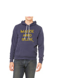 Vintage Maize and Blue Hoodie - Michigan Blue