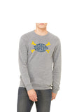 Michigan Football Crossbones Sweatshirt Grey
