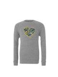 Maize Loves Blue Sweatshirt - Classic Grey Triblend