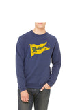 Vintage Michigan Pennant Sweatshirt - Go Blue Triblend