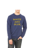 Vintage Maize and Blue Sweatshirt - Go Blue Triblend