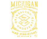 47 National Champs Badge - Maize