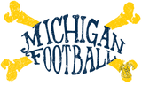 Michigan Football Crossbones Badge