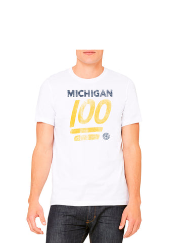 Michigan 100% Emoji - Crisp White T-Shirt
