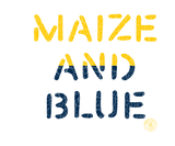 Vintage Maize and Blue Badge