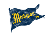 Vintage Michigan Pennant Badge-Blue