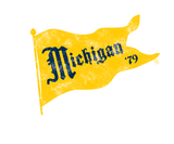 Vintage Michigan Pennant Badge-Maize