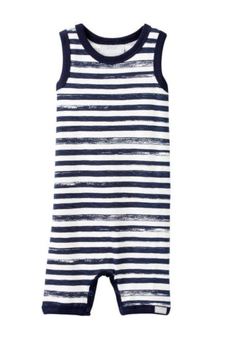 COCCOLI Striped Sleeveless Romper