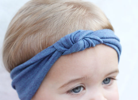 Blue Turban Headband
