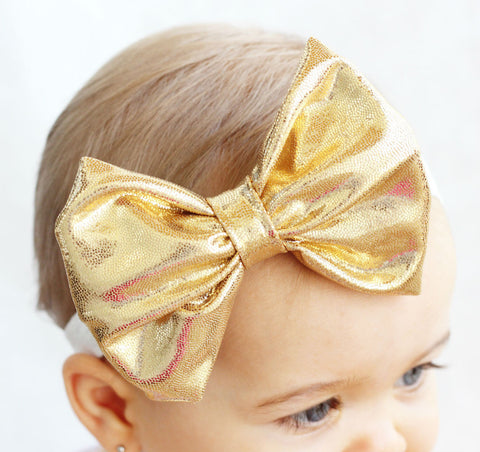 Gold Baby Bow