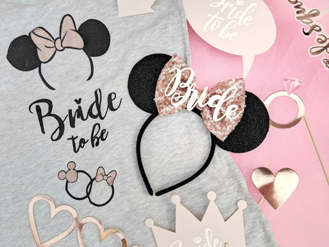 personalised bride minnie ears tutu factory uk