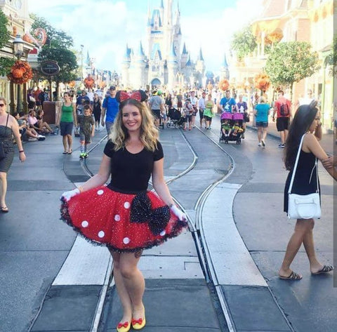 deluxe adult minnie mouse skirt fancy dress ideas disney world