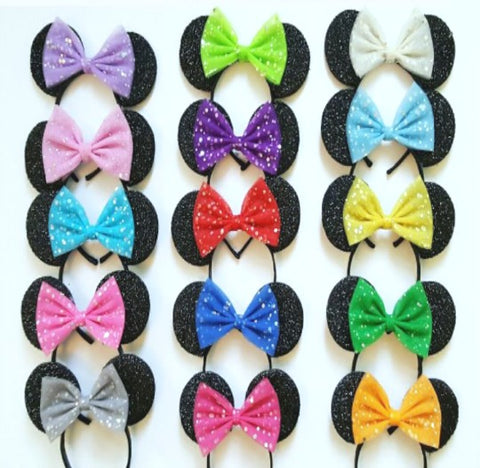 minnie mouse ears disneyland trip custom bow disney princess ears