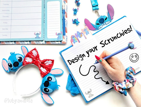 design your own disney scrunchies
