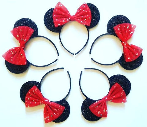 Group Set Of Minnie Mouse Ears for the Hens