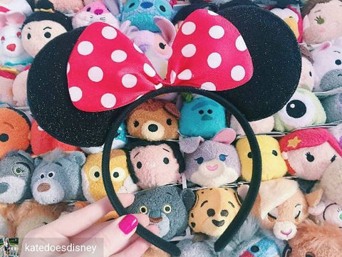 Polka Dot Minnie Mouse Ears