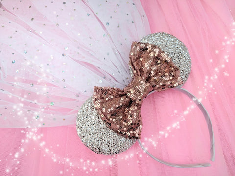 rose gold minnie bridal headbands uk