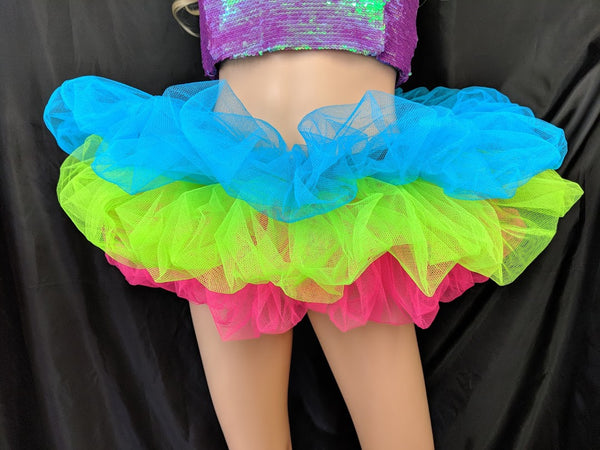 Ready To Ship Multi Colour Neon Tutu - Super Short!