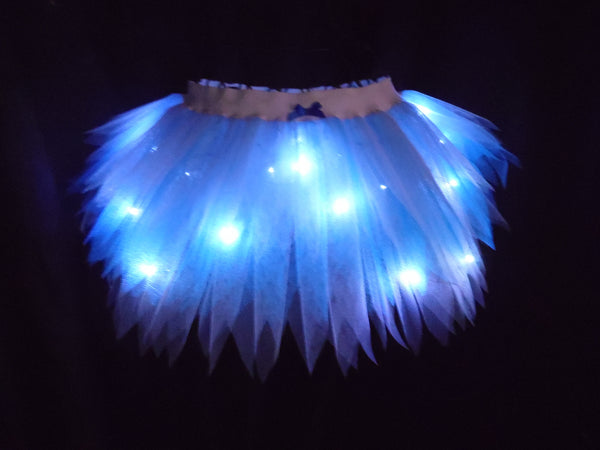 Girls Light Up Fairy Tutu (Plain Net)