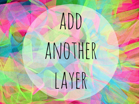 Add an extra net layer to your tutu! (Plain Net)