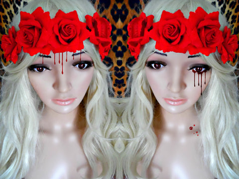 Blood Bride Rose Flower Crown