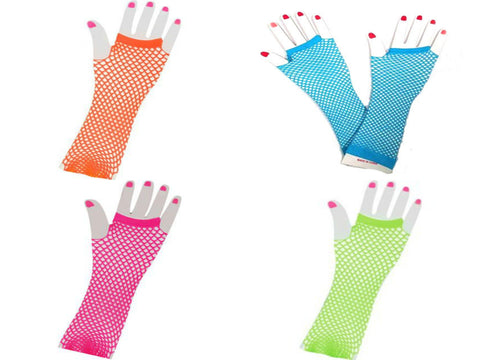 Neon Fish Net Gloves