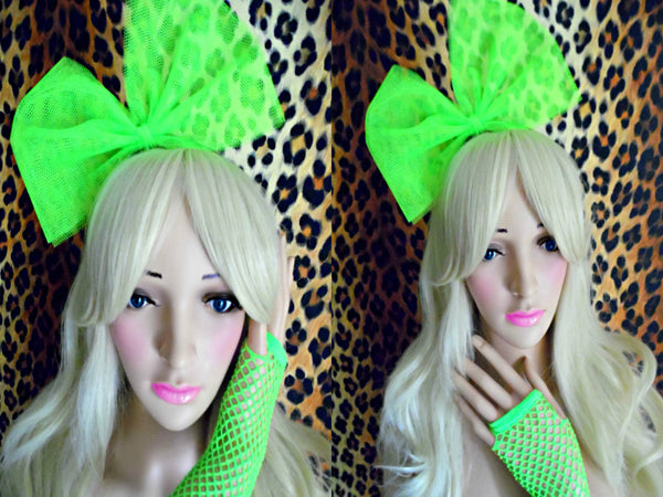 Girls Neon Hair Bow