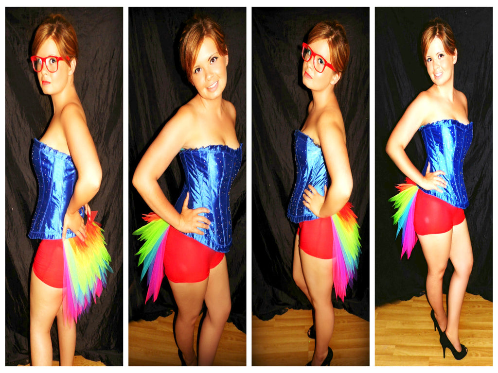 Rainbow Shortyy Bustle Tutu