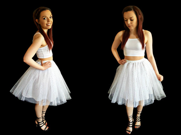 Marilyn Sparkle Tutu - longer lengths with underskirt