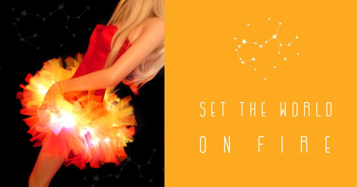 LIGHT UP TUTUS HALLOWEEN SET THE WORLD ON FIRE