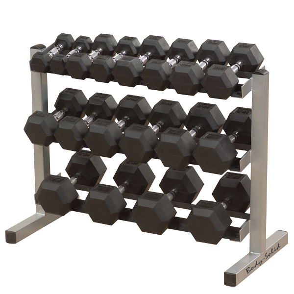 Northampton Ex-Display Model Body-Solid 40 inches Wide 3 Tier Dumbbell Rack
