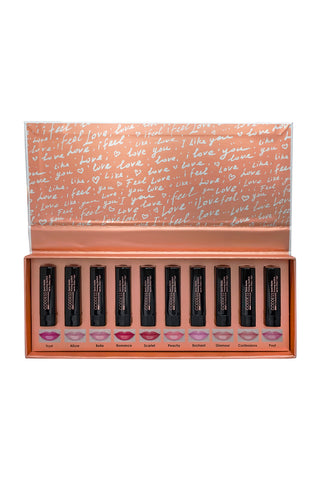 10 PC Lipstick Library