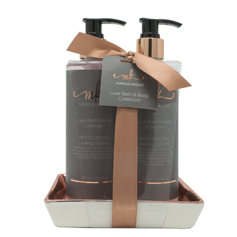 MK Luxe Moisturizing Hand Lotion & Hand Soap Caddy Manna Kadar