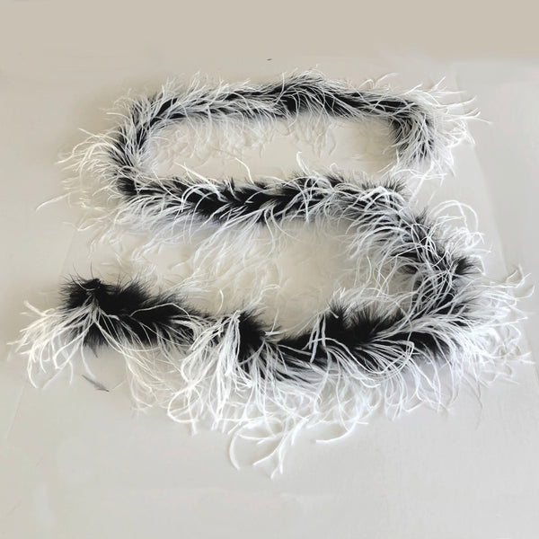Black Marabou with 2 Ply Ostrich Feather Boa