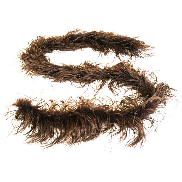 Brown 2 Ply Ostrich Feather Boa