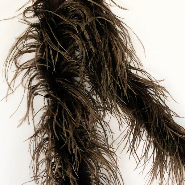 Dark Brown 2 Ply Ostrich Feather Boa