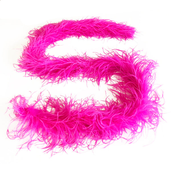 Hot Pink 2 Ply Ostrich Feather Boa