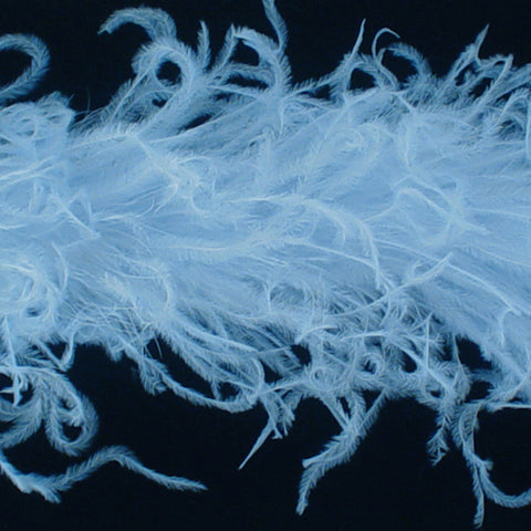 Light Blue Curly Ostrich Feather Boa