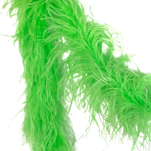 Lime Green 2 Ply Ostrich Feather Boa