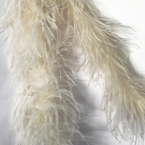 Off White 2 Ply Ostrich Feather Boa