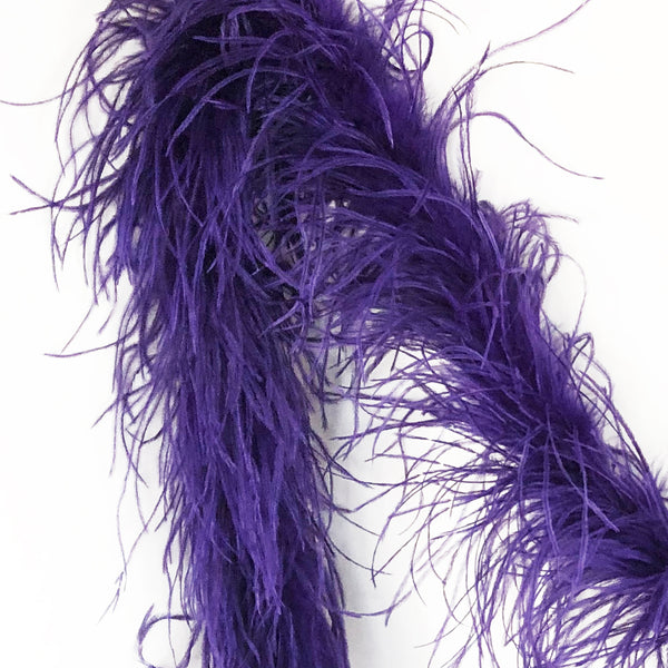 Regal Purple 2 Ply Ostrich Feather Boa