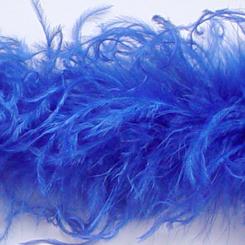 Sapphire Curly Ostrich Feather Boa