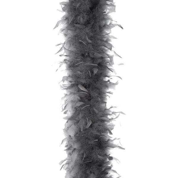 Dark Grey 65 Gram Chandelle Feather Boa