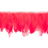 Flame Red Handmade Goose Duck Feather Trim Fringe