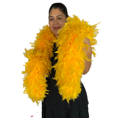 Golden Yellow 120 Gram Chandelle Feather Boa