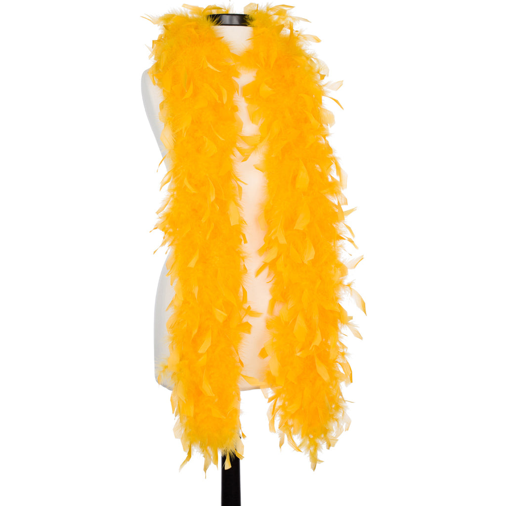 Golden Yellow 65 Gram Chandelle Feather Boa
