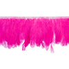 Hot Pink Handmade Goose Duck Feather Trim Fringe