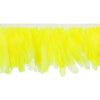 Hot Yellow Handmade Goose Duck Feather Trim Fringe